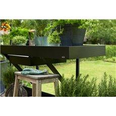 Juliana kweektafel 141x52 cm, lade, zwart