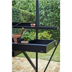 Juliana kweektafel 213x52 cm, lade, zwart