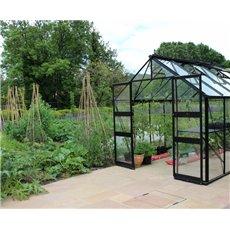 Eden tuinkas Blockley 128, zwart gecoat