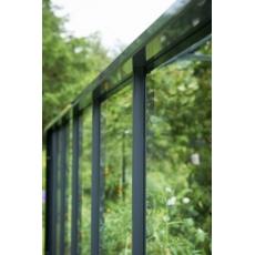 Juliana hobbykas Gardener 214, antraciet grijs gecoat, tuindersglas 3 mm