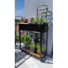 Juliana Vertical Garden, zwart, veiligheidsglas 4mm/1