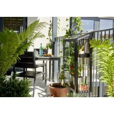 Juliana Balcony Garden, zwart, veiligheidsglas 4mm/1