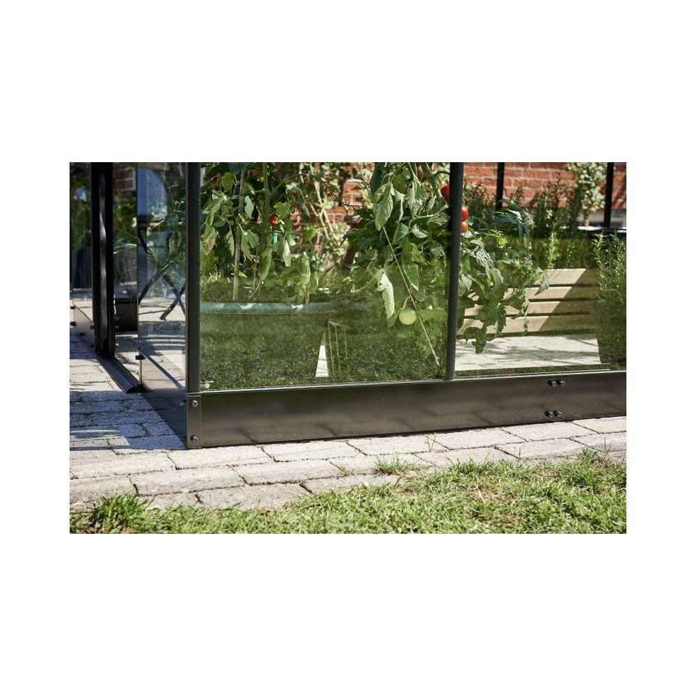 Fundering tbv Halls Qube tuinkas, zwart gecoat