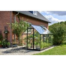 Halls Qube 106  tuinkas, zwart gecoat, veiligheidsglas 3mm/1
