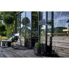 Juliana tuinkamer Grand Oase 130 Wall antracietgrijs- veiligheidsglas