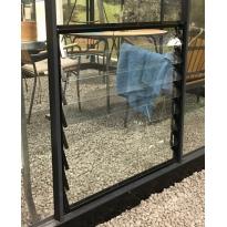 Juliana Louvreraam L8 Premium  & Gardener, 700x856mm veiligheidsglas, zwart