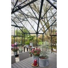 Halls Garden Room 129 tuinkamer, groen gecoat, veiligheidsglas 3mm