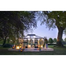 Juliana Grand Oase 188 tuinkamer, grijs gecoat, veiligheidsglas 3mm