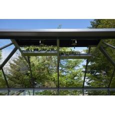 Juliana Grand Oase Wall 188 tuinkamer, grijs gecoat, veiligheidsglas 3mm