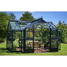 Juliana tuinhuis Orangery 152, antracietgrijs gecoat, veiligheidsglas 3mm