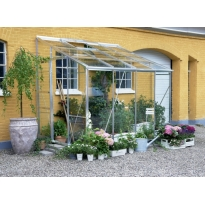 Halls muurkas Lean-To 608, tuindersglas 3mm + fundering